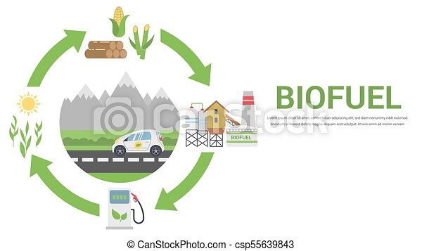 Biofuel life cycle - csp55639843