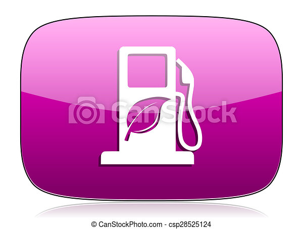 biofuel violet icon bio fuel sign - csp28525124
