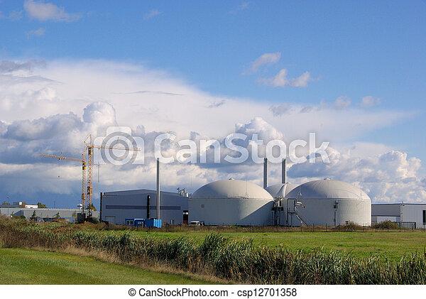 biogas plant 36 - csp12701358