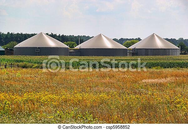 biogas plant 75 - csp5958852