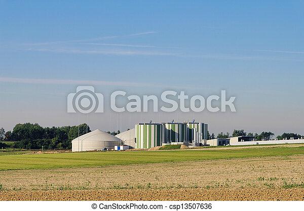 biogas plant 79 - csp13507636