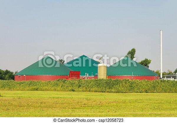 biogas plant 85 - csp12058723