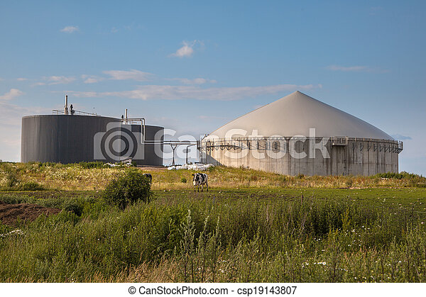 Biogas plant in Germany - csp19143807