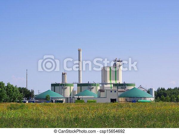 biogas plant  - csp15654692