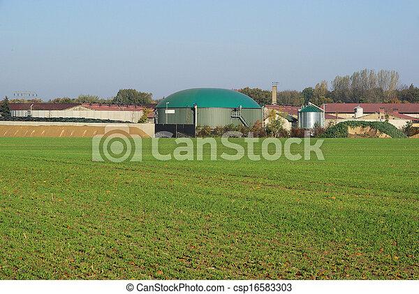 biogas plant  - csp16583303
