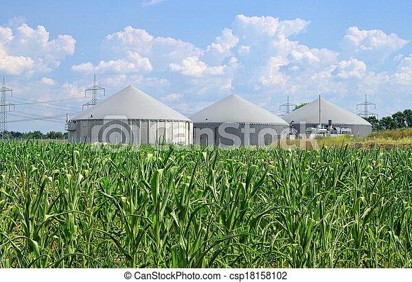 biogas plant  - csp18158102