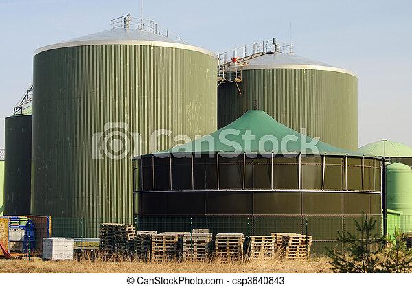 Biogasanlage - biogas plant 63 - csp3640843