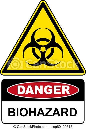 biohazard , κίνδυνοs , δηλοποίηση αναχωρώ  - csp60120313