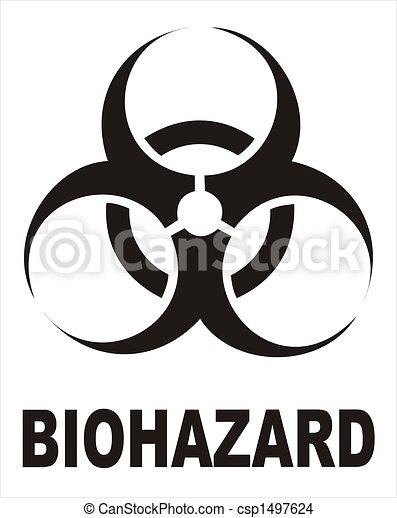 Biohazard Black Sign Vectorial Image Biohazard Warning Sign Black