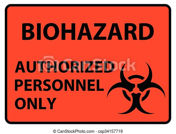 Biohazard Safety Sign Authorized Personnel Only Poster