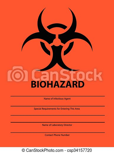 Biohazard Safety Sign Infectious Agent Poster