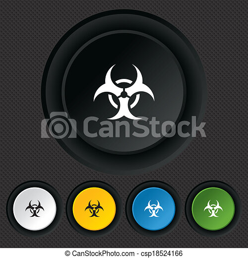 Biohazard sign icon. Danger symbol. - csp18524166