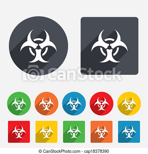 Biohazard sign icon. Danger symbol. - csp18378390