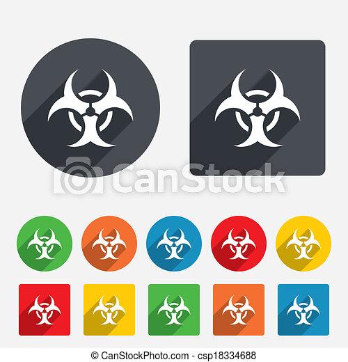 Biohazard sign icon. Danger symbol. - csp18334688