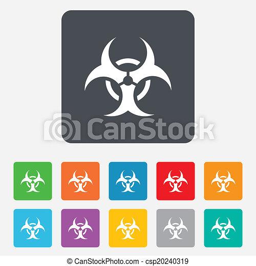 Biohazard sign icon. Danger symbol. - csp20240319