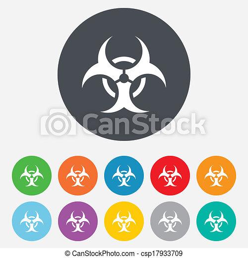 Biohazard sign icon. Danger symbol. - csp17933709