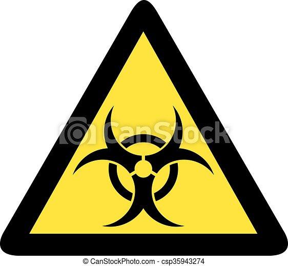 biohazard sign - csp35943274