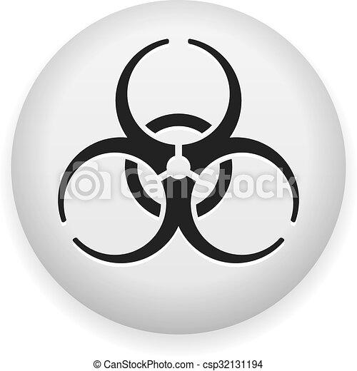 Biohazard Symbol Danger Biohazard Sign With Risk Symbol On White