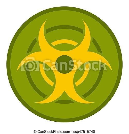 Biohazard Symbol Icon Isolated Biohazard Symbol Icon Flat Isolated