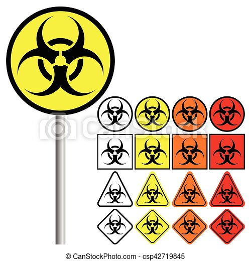 Biological Hazards ( Biohazard ) Symbol Icon - csp42719845