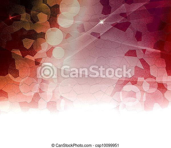 biologique, résumé, arrière-plan rouge - csp10099951