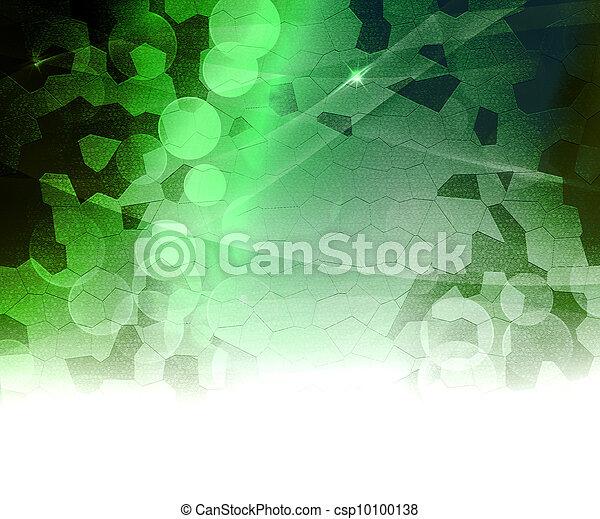 biologique, résumé, arrière-plan vert - csp10100138