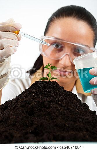 Biologist woman - csp4071084