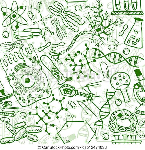 Biology seamless pattern - csp12474038