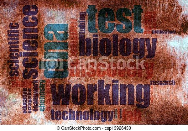 Biology word cloud - csp13926430