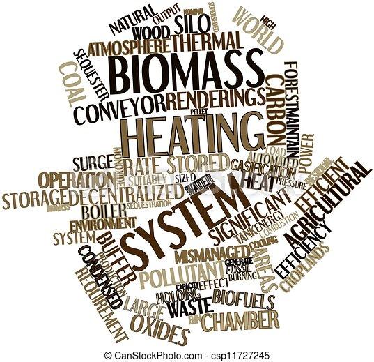 Biomass heating system - csp11727245