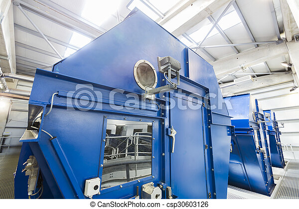 Biomass waste plant inside - csp30603126