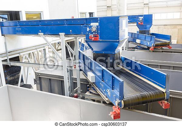 Biomass waste plant inside - csp30603137