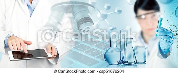 biomedical research concept, 3d illustration - csp51876204