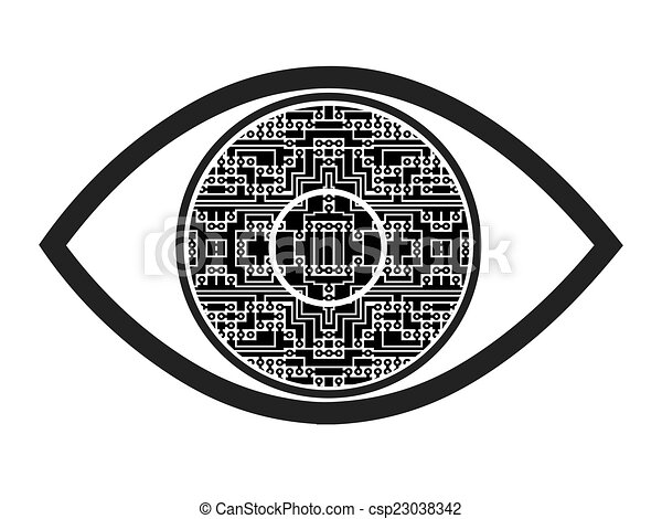 Bionic Eye Symbol Concept Sign And Symbol For A Visual Prosthesis