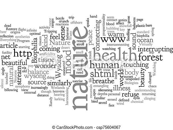 Biophilia text background wordcloud concept - csp75604067