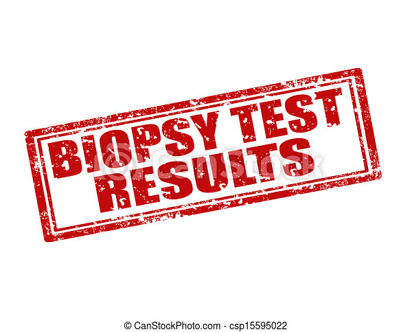 Biopsy Test Results-stamp - csp15595022