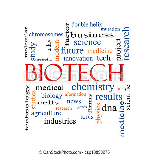 Biotech Word Cloud Concept - csp18853275