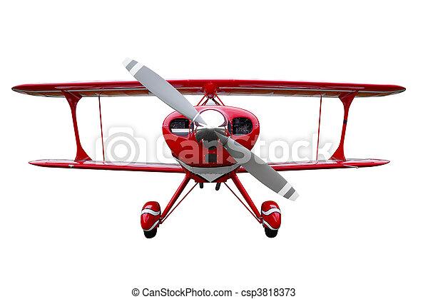 Biplane rojo se cortó - csp3818373