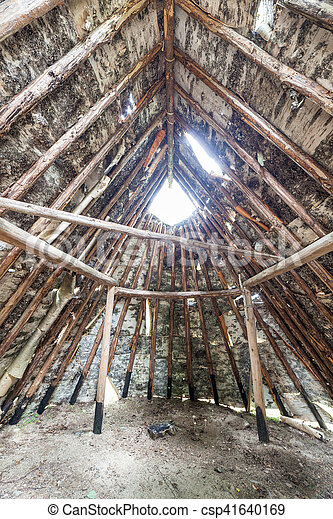 Birch bark hut - csp41640169