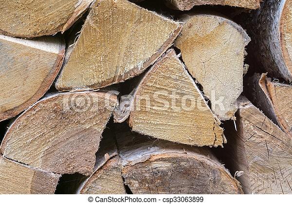 Birch Fire Wood - csp33063899