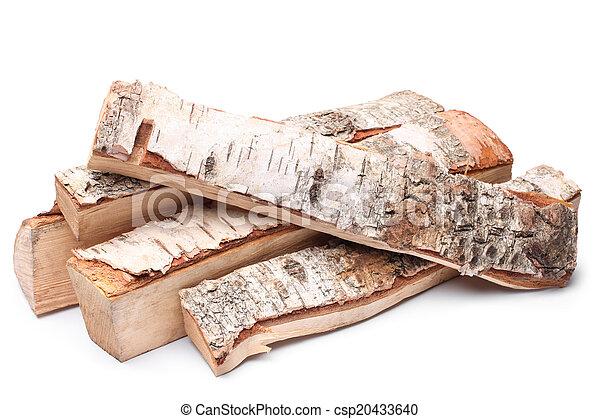 Birch firewood - csp20433640