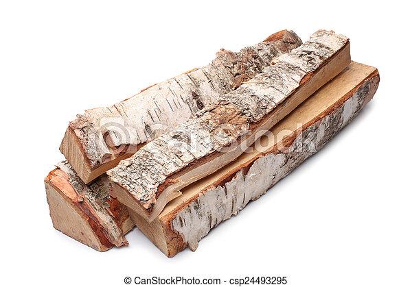 Birch firewood - csp24493295