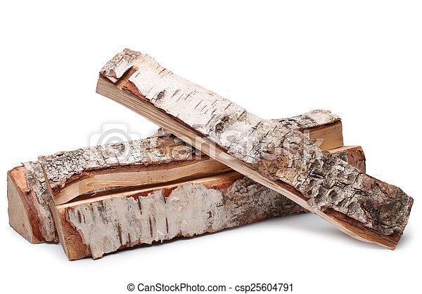 Birch firewood  - csp25604791