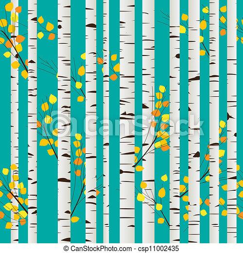 Birch forest pattern - csp11002435