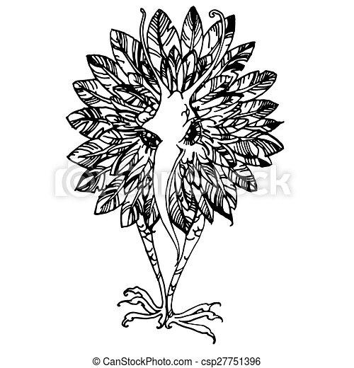 Bird and flower. - csp27751396