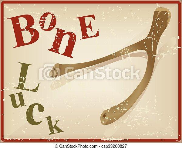 Bird bone superstitious recognized bone luck - csp33200827