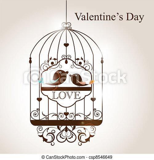 EPS Vectors Of Bird Cage