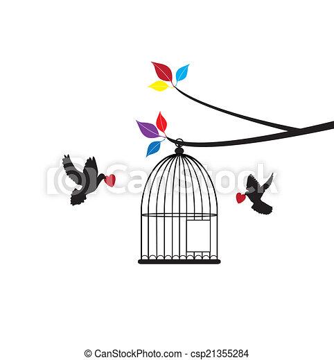Bird Cage - csp21355284