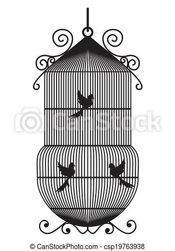 Bird cage - csp19763938