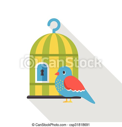 bird cage flat icon - csp31818691